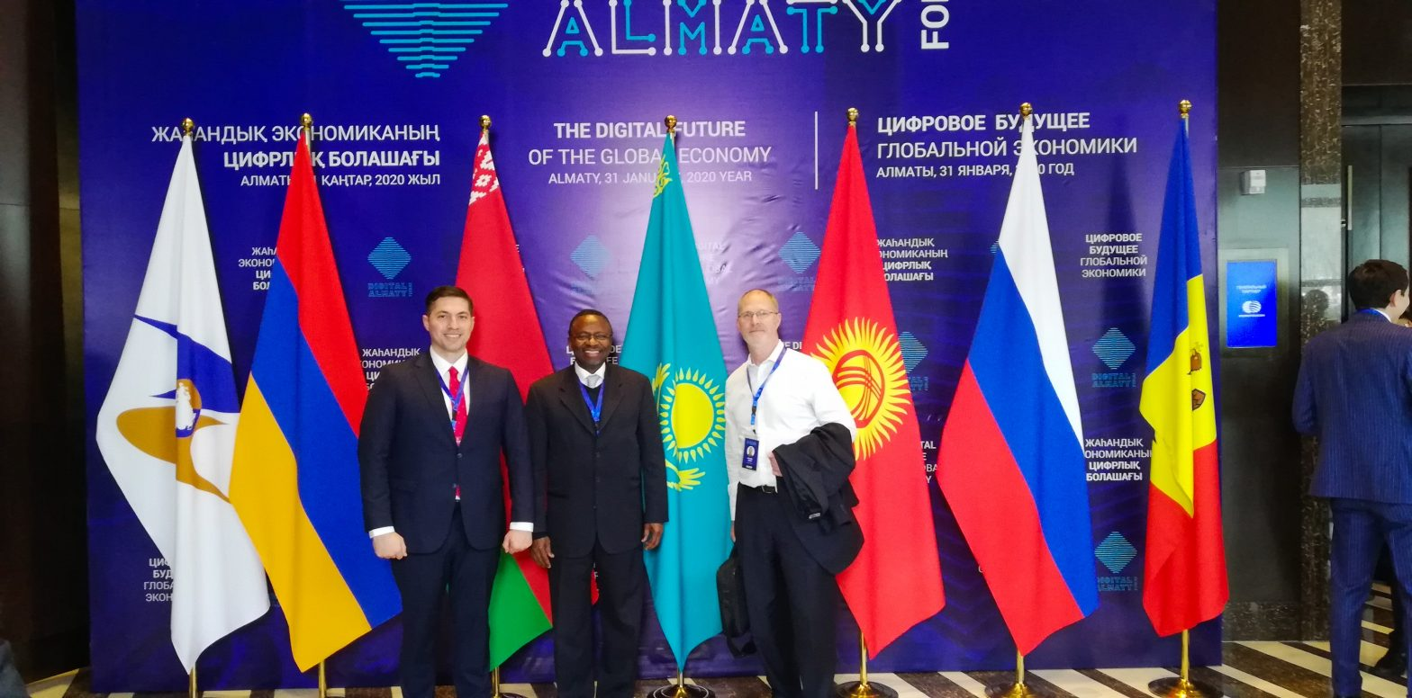 NU Delegation Attended Digital Forum Almaty