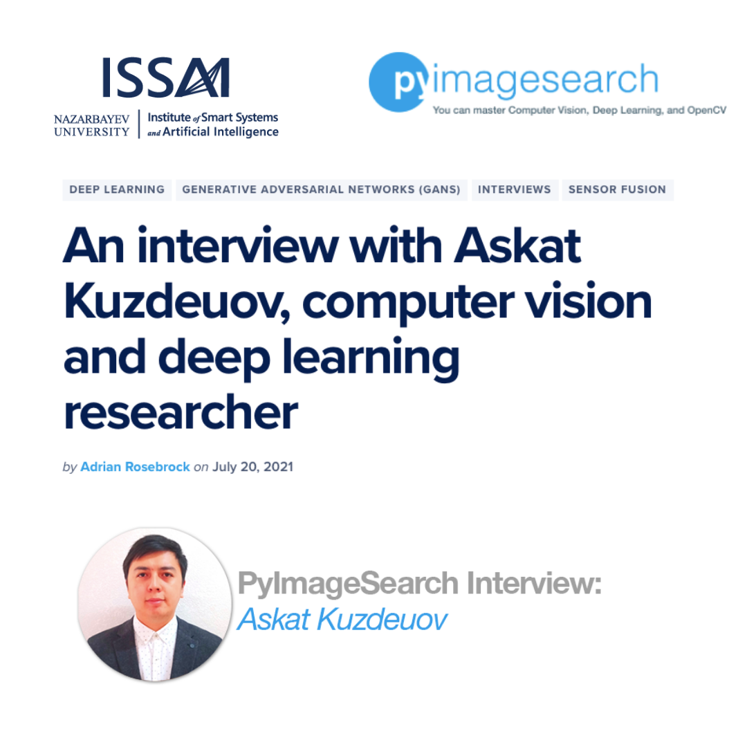 Data Scientist Askat Kuzdeuov's interview for PyImageSearch.com