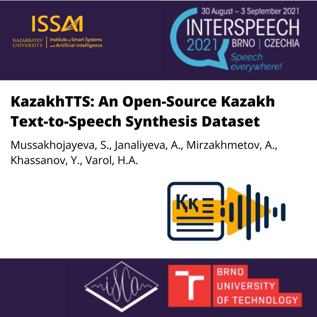KazakhTTS: Набор данных для синтеза Казахского текста в речь с открытым исходным кодом