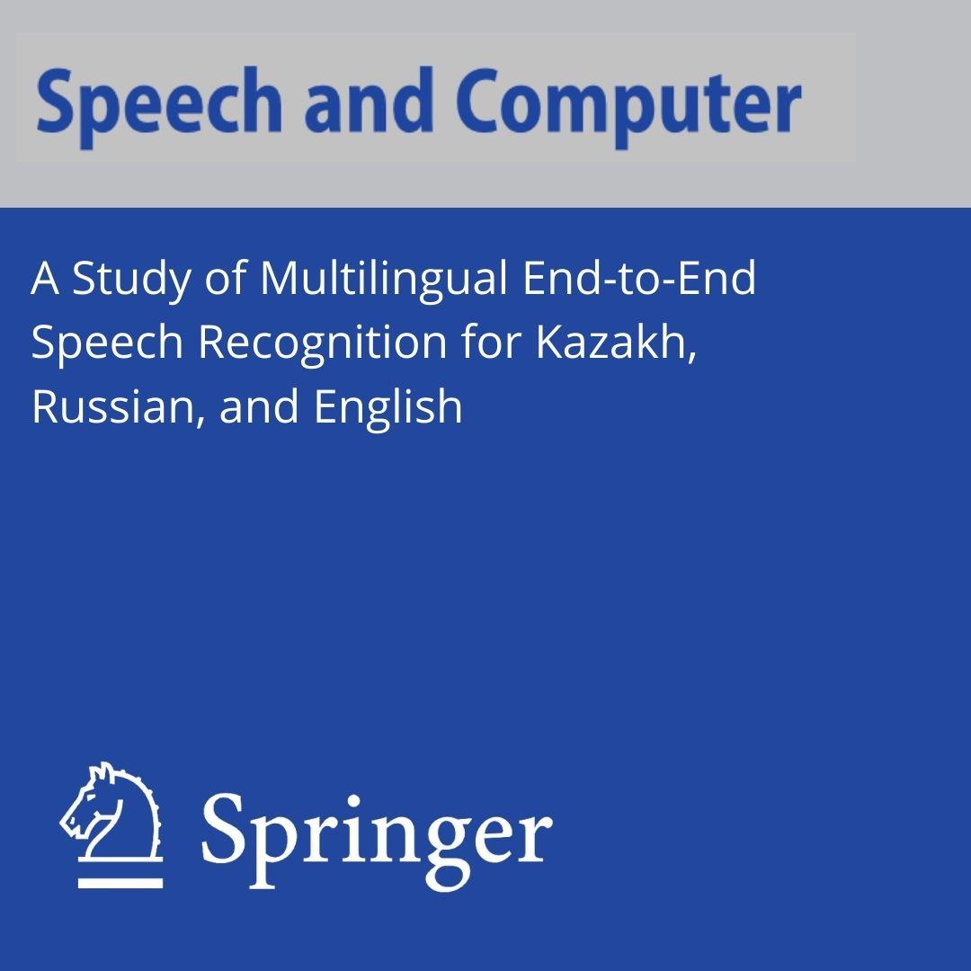 Исследование многоязычного сквозного распознавания речи для казахского, русского и английского языков